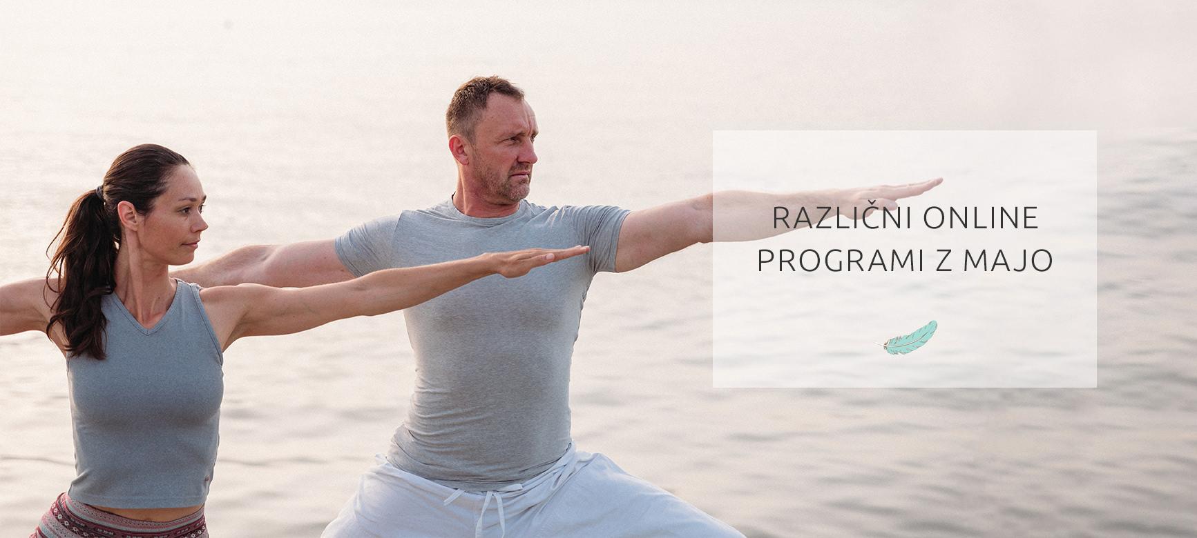 Online joga Dih center prisotnosti